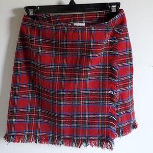 Vintage Plaid Hi-Waist Mini Skirt | Small